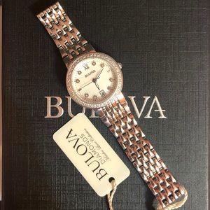 Bulova Diamond MOP stunning stainless steel watch